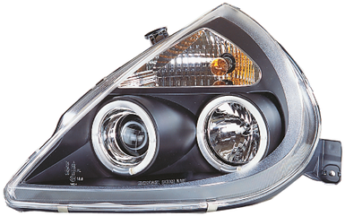 Ford KA 96-08 Black Halo Ring Headlights.