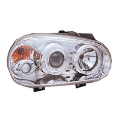 VW GOLF MK4 LED HALO PROJECTOR HEADLIGHTS