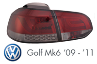 VW Golf Mk6 2009 - 2001 Tail Light
